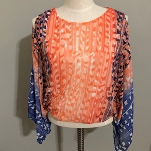 Chico's Size Small Cold Shoulder Top
